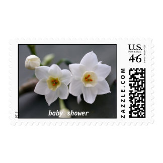 ...and one on the way!, baby shower postage stamps