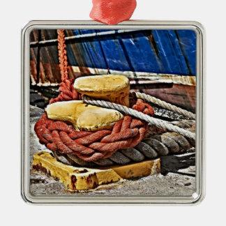 and ropes rust detail ornamento para reyes magos