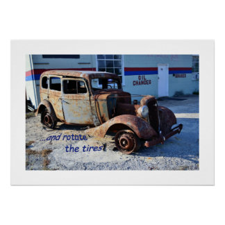 ...and rotate the tires poster