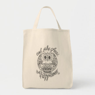 And She Chose Happiness Grocery Tote
