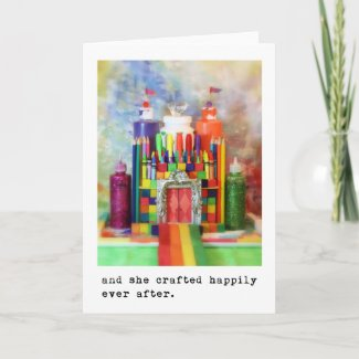 and she crafted happily ever after. Photography zazzle_card