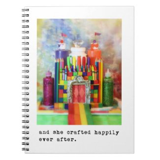 """""""and she crafted happily ever after"""" photography spiral notebooks"""