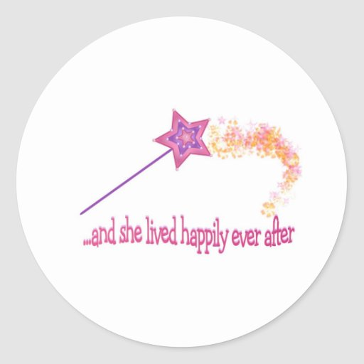 And She Lived Happily Ever After Classic Round Sticker