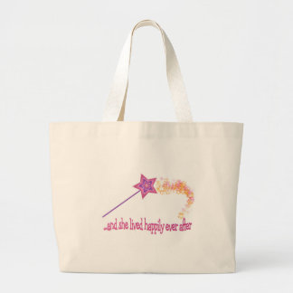 And She Lived Happily Ever After Large Tote Bag