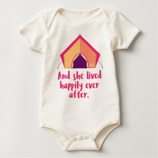 And She Lived Happily Ever After Outdoor Camping Baby Bodysuit