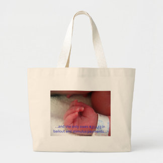 And she only owes... tote bags