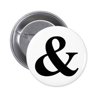 & And Sign Ampersand Logogram Symbol Icon Shortcut Pinback Button