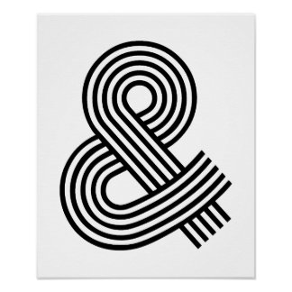 & And Sign Ampersand Logogram Symbol Icon Shortcut Poster