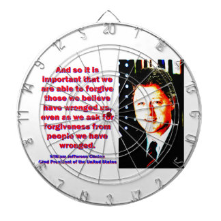 And So It Is Important - Bill Clinton Dartboard With Darts