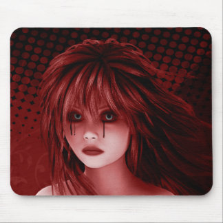 And So She Cries Gothic Art Mousepad