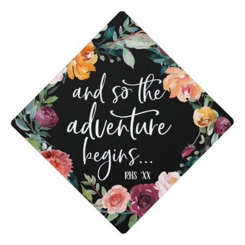 And so the adventure begins  Graduation Cap