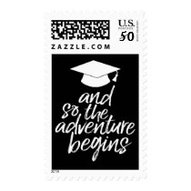 And So The Adventure Begins - Graduation Postage