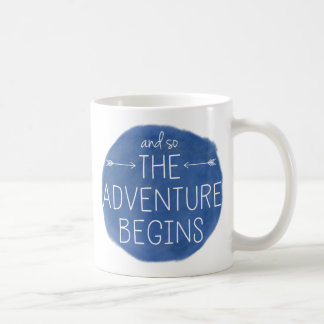 And So The Adventure Begins Classic White Coffee Mug