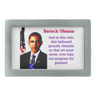 And So This Visit - Barack Obama Belt Buckle