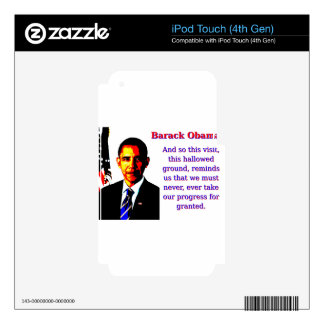 And So This Visit - Barack Obama iPod Touch 4G Decal