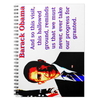 And So This Visit - Barack Obama Notebook