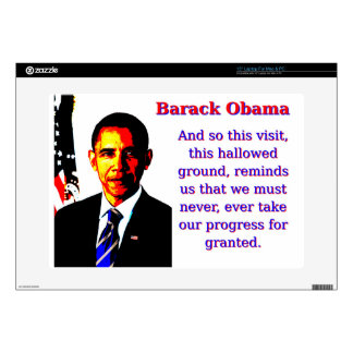 "And So This Visit - Barack Obama Skins For 15"" Laptops"