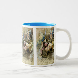 And, Sweetly Singing Round Thy Bed Two-Tone Coffee Mug