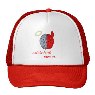 And the Battle Rages On Good vs Evil Mesh Hats