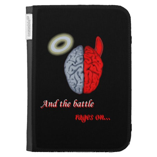 And the Battle Rages On (Good vs Evil) Kindle Keyboard Cases