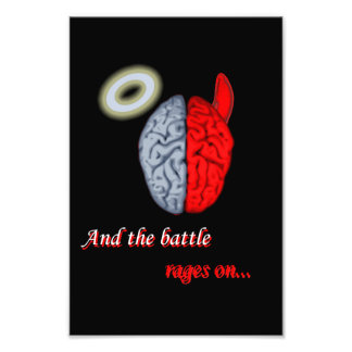 And the Battle Rages On (Good vs Evil) Photo Print
