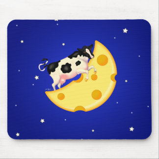 And the Cow Jumped Over the Cheese Moon Mouse Pad