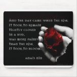 """""""and the day came..."""" photo mousepad with rose"""