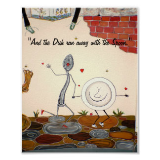 And the Dish ran away with the Spoon Print