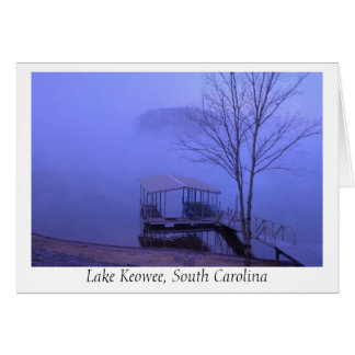 And the fog sets in... (Lake Keowee) Card