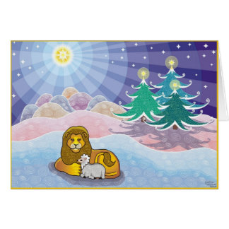 And the Lion Shall Lay Down With the Lamb Card
