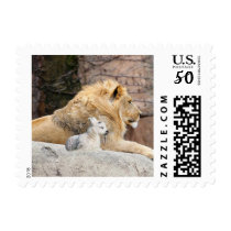And The Lion Shall Lie Down With The Lamb Postage