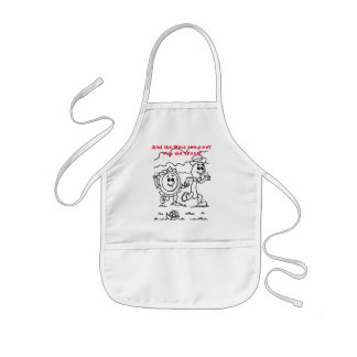 And the plate ran away with the spoon! kids' apron