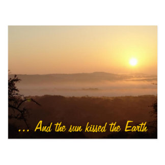 ... And the sun kissed the Earth Postcard