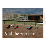 And the wiener is... greeting card