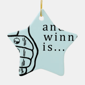 and the winner is Coupon Ceramic Ornament