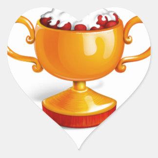And the winner is dessert cup heart sticker