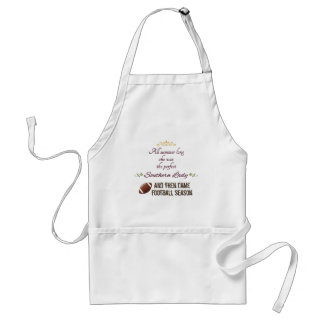 ...And Then Came Football Season Adult Apron