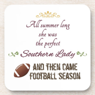 ...And Then Came Football Season Beverage Coasters