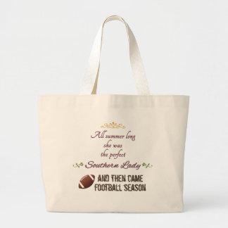 ...And Then Came Football Season Jumbo Tote Bag