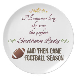 ...And Then Came Football Season Melamine Plate
