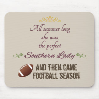 ...And Then Came Football Season Mouse Pad