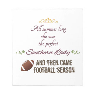 ...And Then Came Football Season Notepad