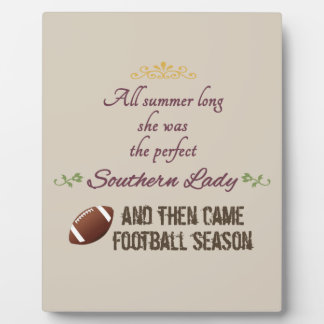 ...And Then Came Football Season Plaque