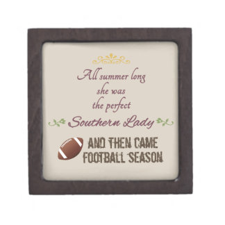 ...And Then Came Football Season Premium Jewelry Boxes