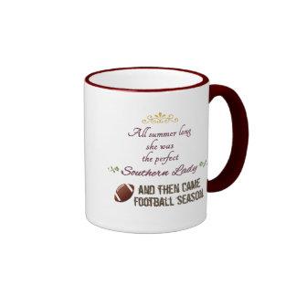 ...And Then Came Football Season Ringer Coffee Mug