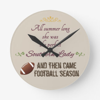 ...And Then Came Football Season Round Clock
