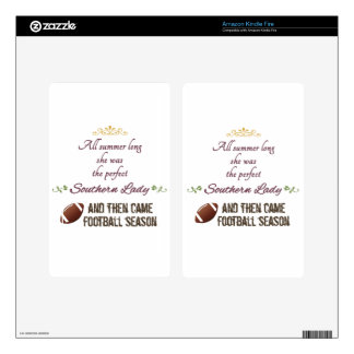 ...And Then Came Football Season Skin For Kindle Fire