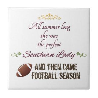 ...And Then Came Football Season Tile