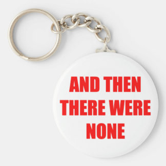 And Then There Were None Basic Round Button Keychain