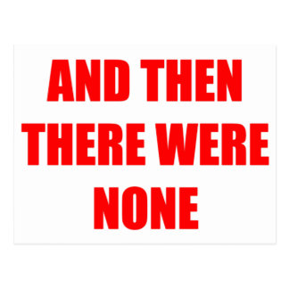 And Then There Were None Postcard